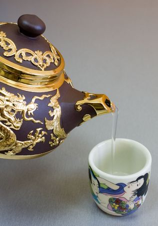 set for tea in Chinese style 版權商用圖片