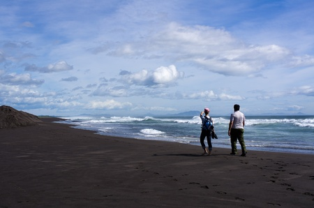 Tourism in the Kamchatka coast