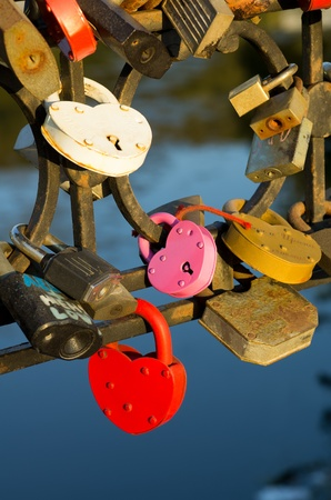 Traditional wedding lock on happiness in marriage