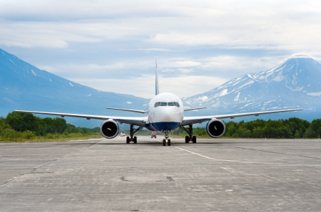 The aircraft landed at the airport of Kamchatka