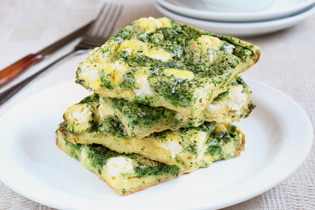 Frittata With Feta And Spinach photo