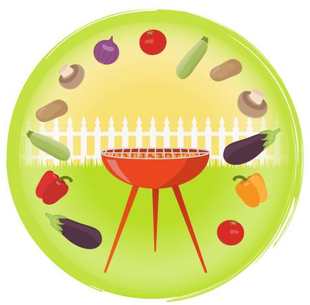 prepared potato: Vegetarian barbecue