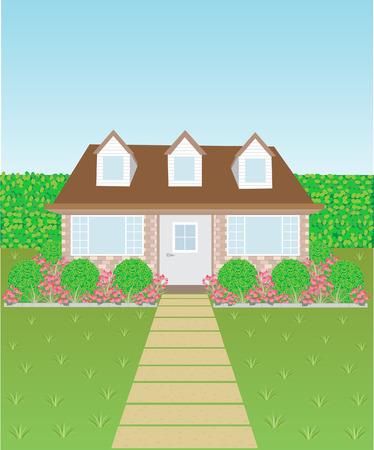 Lovely house Vector