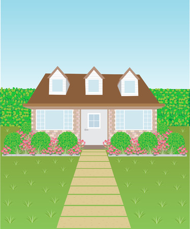 front or back yard: Lovely house