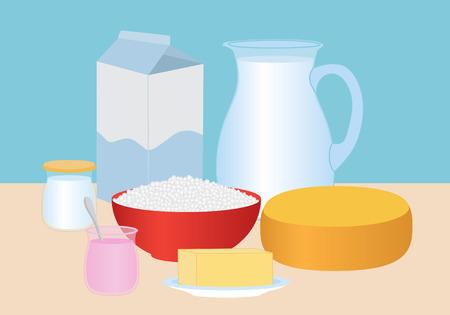 Dairy products set Banco de Imagens - 29204693