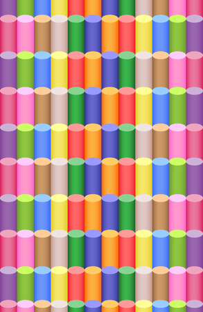 chalks: Multicolored childrens chalks pattern.