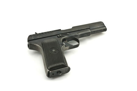 pistol of a design of a tt (tokarev) on a white background Фото со стока