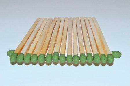 A row of match sticks Фото со стока