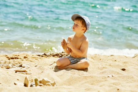the boy on the seashore