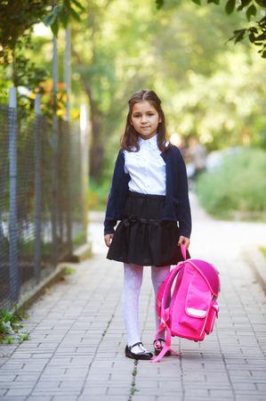 portrait of a schoolgirl girl