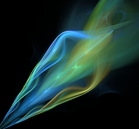 combustible: Abstract fractal burning torch computer-generated image Stock Photo