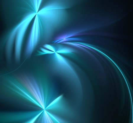 chaotic: Abstract fractal chaotic blue stars computer-generated image