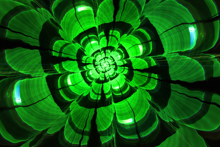 verdant: Abstract fractal stone flower, the malachite mineral computer-generated image Stock Photo
