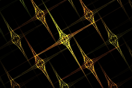 Abstract fractal geometric yellow sharp grid image background