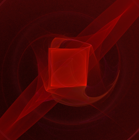 pulsing: abstract fractal magic disturbing pulsing glowing red square
