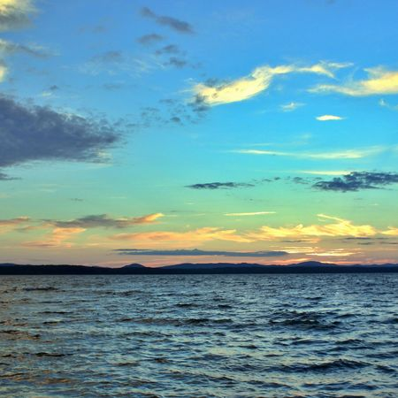 urals: beautiful Lake Uwildy in the southern Urals in the summer evening Stock Photo