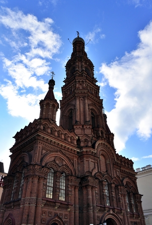Bell tower of Epiphany cathedral. Kazan, Tatarstan Russia Stock Photo