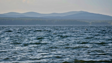 view on the opposite shore of the lake