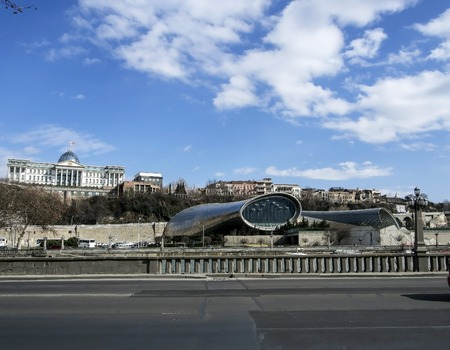 building of the Theater of music and drama in Tbilisi is not yet completed