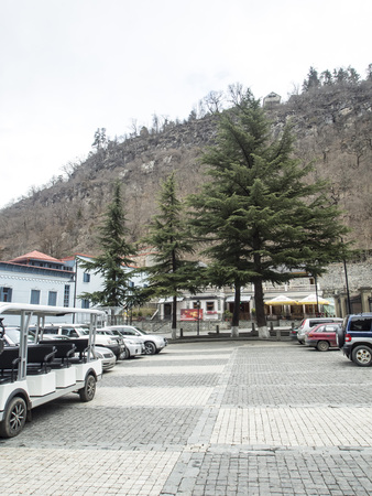 in the vicinity of Borjomi in Georgia in springtime