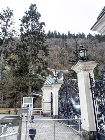 gate in the Park near the town of Borjomi in springtime