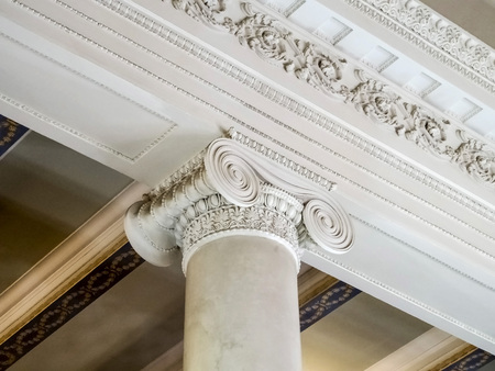 decoration of the upper part of the column in the foyer of the Opera house Banco de Imagens