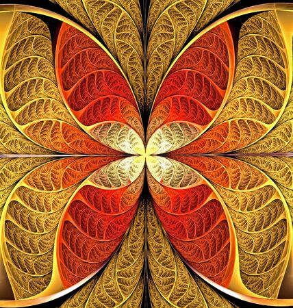 bright abstract fractal background of circles and geometric elements. Beautiful abstract fractal to highlight individual groups of objects. You can use it for laptop cover, phone case, Wallpaper