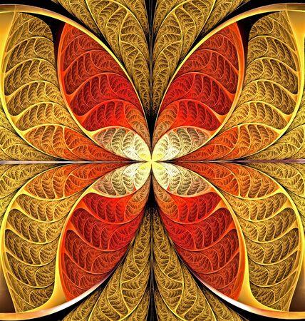 heller abstrakter fraktaler Hintergrund von Kreisen und geometrischen Elementen. Schönes abstraktes Fraktal, um einzelne Objektgruppen hervorzuheben. Sie können es für Laptop-Abdeckung, Handyhülle, Tapete verwenden