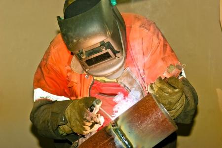 funken:  Welder Werken  Lizenzfreie Bilder
