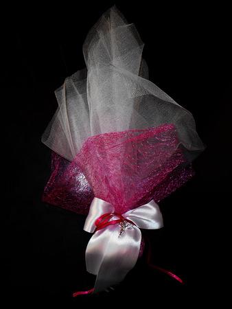 bonbonniere: Wedding bonbonniere, isolated on black Stock Photo
