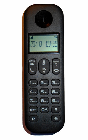 cordless phone: Cordless phone, Isolated