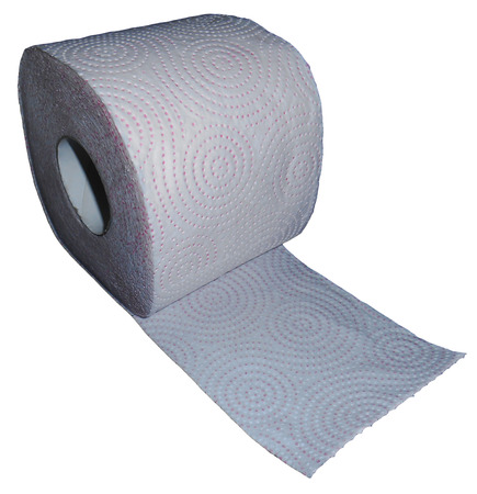 papel higienico: Papel higi�nico aislado en blanco Foto de archivo