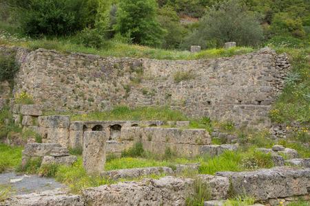 View of ancient baths near Lousios river, Greece.