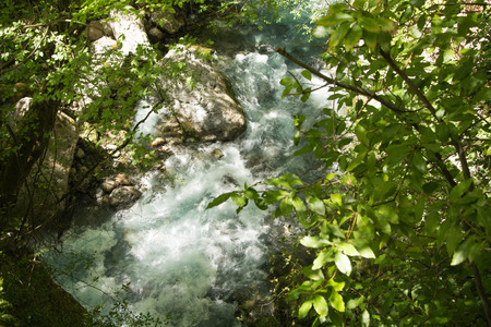 View of Lousios river in Peloponnese, Greece. Stock Photo