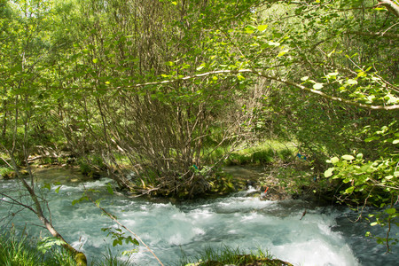 breath taking: View of Lousios river in Peloponnese, Greece. Stock Photo
