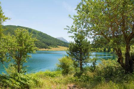 View of lake Doxa in Peloponnese, Greece.