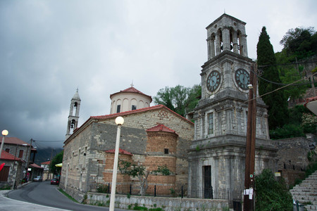 View of the church in Langadia, Greece.