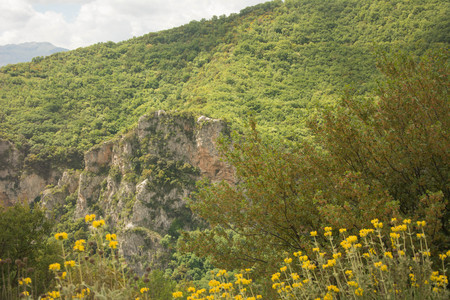 View of the mountains of Arkadia, Pictures taken during hiking the mountain over Lousios River.