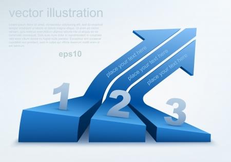 two arrows: Vector illustration of 3d arrows Illustration