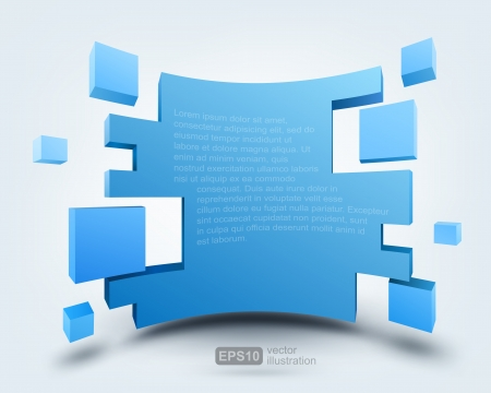 perspectives: Vector illustration of 3d background