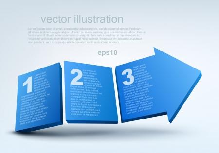 two arrows: Vector illustration of 3d arrow