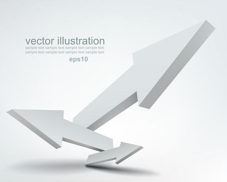 Vektor-Illustration von 3D-Pfeile