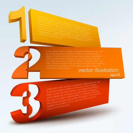 Abstract numbered blanks Vector