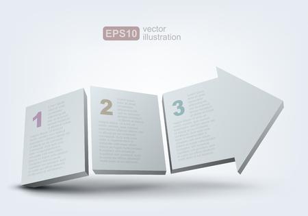 Vector illustration of 3d arrow Vector