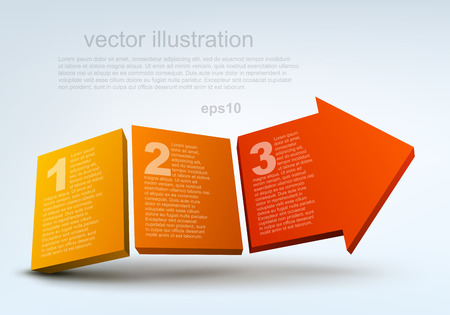 Vector illustration of 3d arrow Vector