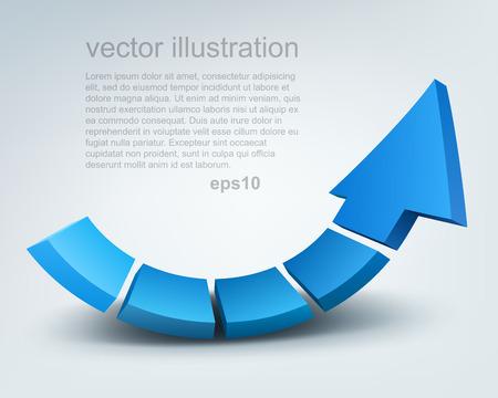 growth: Vector illustration of 3d arrow