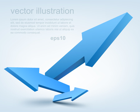 blue arrow: Vector illustration of 3d arrows Illustration