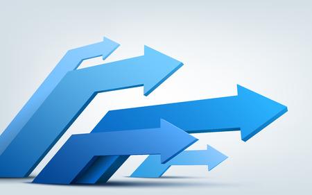 Vector illustration of 3d arrows Vector