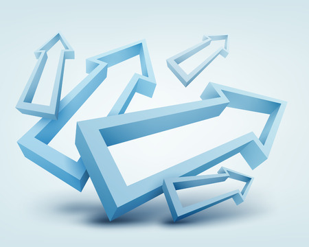 computer science: Vector illustration of 3d arrows Illustration