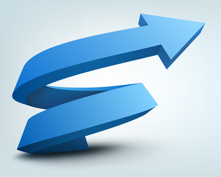 growth arrow: Vector illustration of 3d arrow